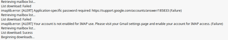 GMail errors